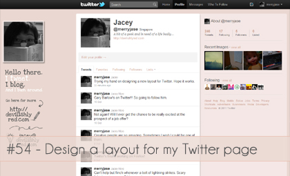 New look for my tweets