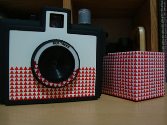 The camera comes with a roll of film in a matching box